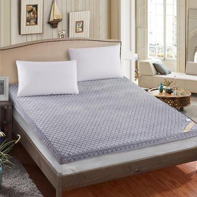 2019新款法兰绒立体床垫 90*200cm 灰色