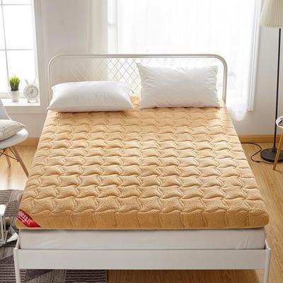 2019新款羊羔绒床垫 90*200cm 驼色