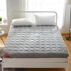 2019新款羊羔绒加厚床垫 90*200cm 灰色