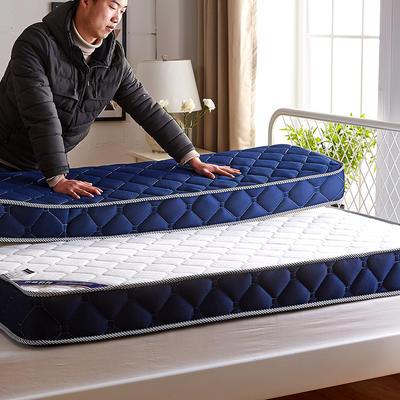 2019新款三明治针织立体床垫10公分 150*200-10cm 蓝色