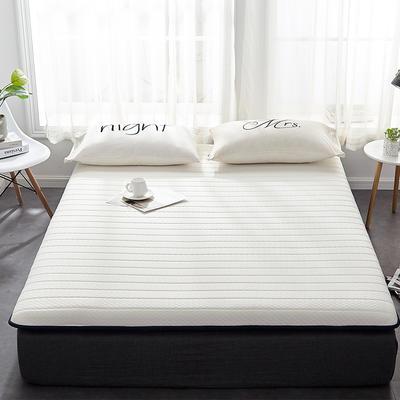 2019新款乳胶三明治床垫--大床款 90*200cm 白床垫6公分
