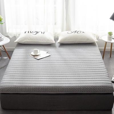 2019新款乳胶三明治床垫--大床款 90*200cm 灰床垫6公分