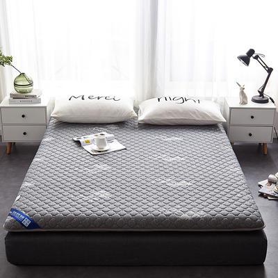2019新款乳胶三明治床垫--大床款 90*200cm 蜂窝灰床垫10公分