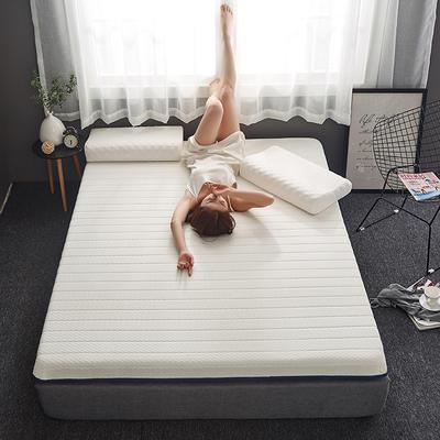 2019新款乳胶记忆海绵床垫-6公分 90*200-6cm 单边白
