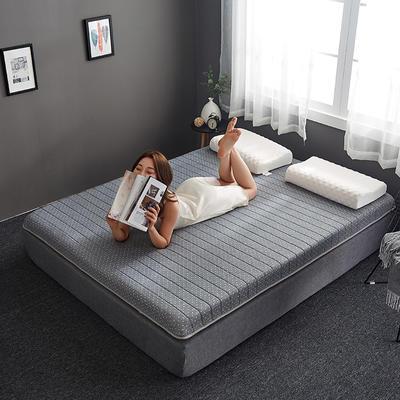 2019新款乳胶记忆海绵床垫-6公分 90*200-6cm 单边灰