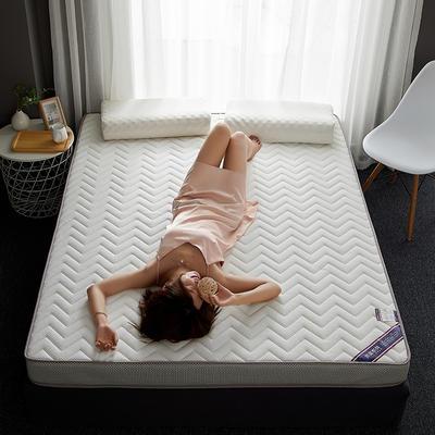 2019新款针织记忆海绵床垫-6公分 10公分 180*200cm 立体波纹-白(6公分)
