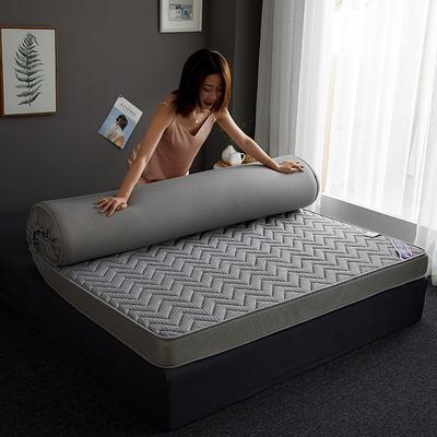 2019新款针织记忆海绵床垫-6公分 10公分 90*190cm 立体波纹-灰(10公分)