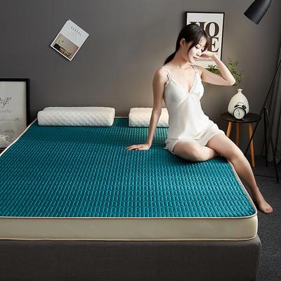 2019新款水晶绒乳胶床垫高弹记忆海绵抗压耐压床垫-6cm 90*200-6cm 水晶绒立体-深绿
