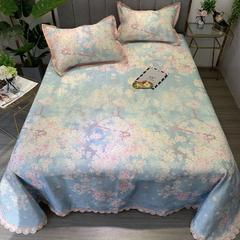 600D印花凉席床单式冰丝席可水洗机洗藤席竹席 250*250 十里桃花