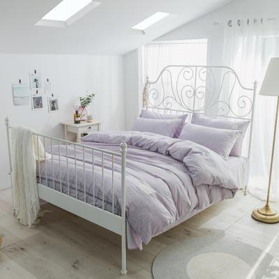 海藻面轻奢系列四件套 1.2m(4英尺)床 淡紫色