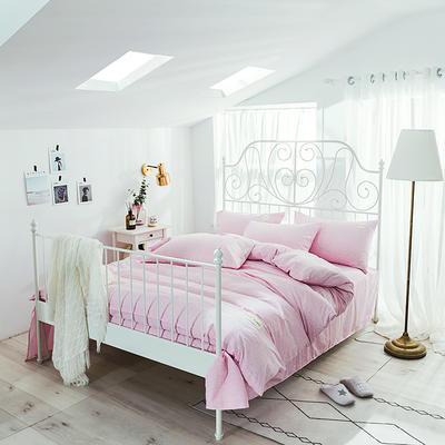 海藻面轻奢系列四件套 1.2m(4英尺)床 嫩粉色
