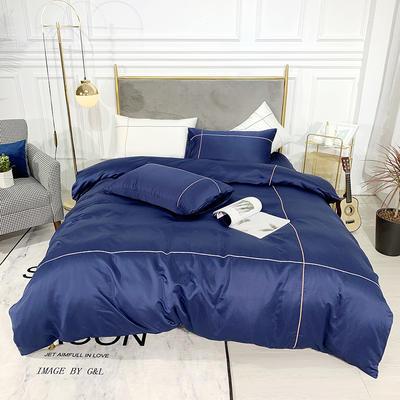 2019新款双面水洗真丝-米兰 1.8m(6英尺)床 宝石蓝