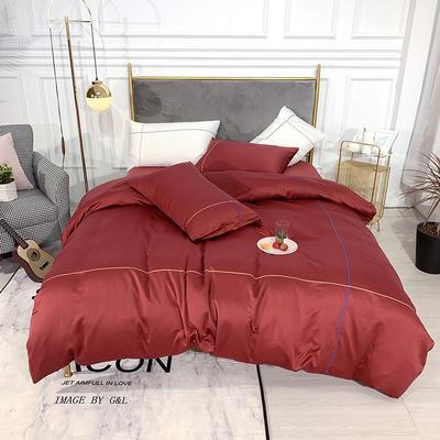 2019新款双面水洗真丝-米兰 1.8m(6英尺)床 酒红