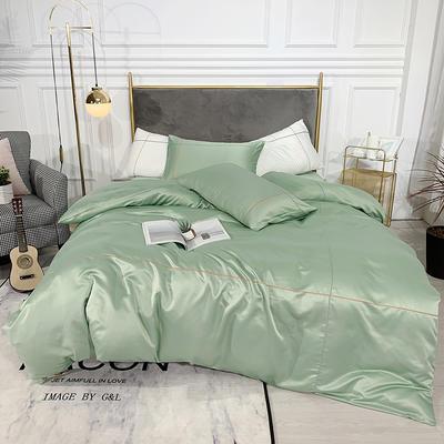 2019新款双面水洗真丝-米兰 1.2m(4英尺)床三件套 优雅绿
