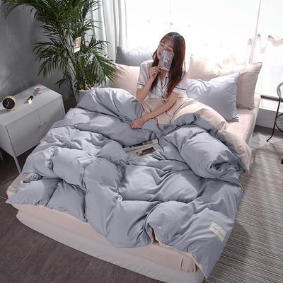 2019新款海藻棉纯色系列四件套 1.2m(4英尺)床 典雅灰