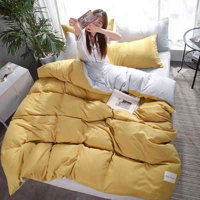 2019新款海藻棉纯色系列四件套 1.2m(4英尺)床 芥末黄