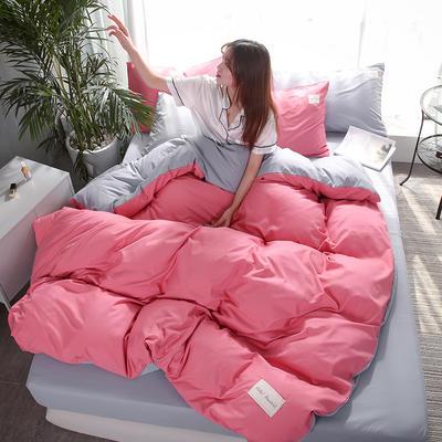 2019新款海藻棉纯色系列四件套 1.2m(4英尺)床 浅玫红