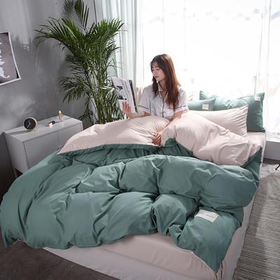 2019新款海藻棉纯色系列四件套 1.2m(4英尺)床 青草绿