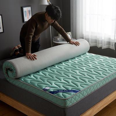 2020新款乳胶记忆慢回弹海绵床垫 0.9*2.0 立体波纹款-水蓝色(10公分)