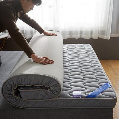 2020新款乳胶记忆慢回弹海绵床垫 0.9*2.0 立体波纹款-叶语浪漫-灰(10公分)