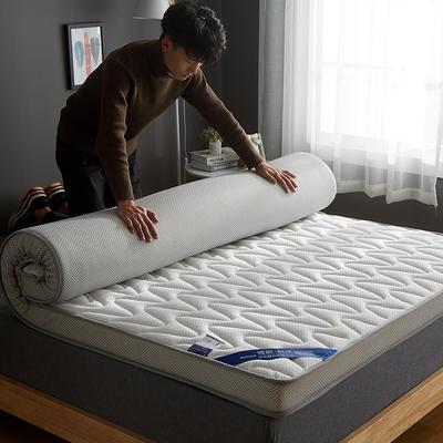 2020新款乳胶记忆慢回弹海绵床垫 0.9*2.0 立体波纹款-尊贵白(10公分)