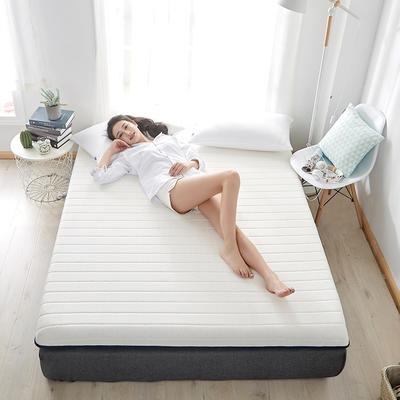 2020新款乳胶记忆慢回弹海绵床垫 0.9*2.0 单边-直线白色(6公分)