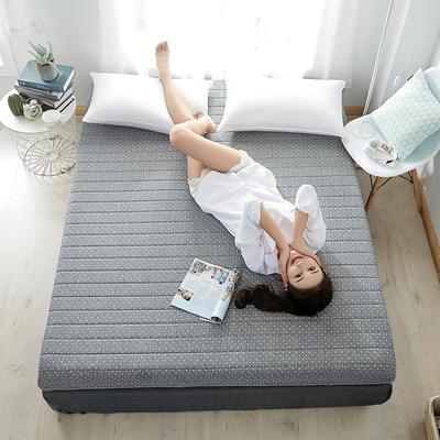 2020新款乳胶记忆慢回弹海绵床垫 0.9*2.0 单边-直线灰色(6公分)