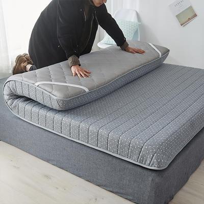 2020新款乳胶记忆慢回弹海绵床垫 0.9*2.0 单边-直线灰色(10公分)