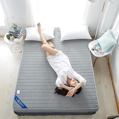2020新款乳胶记忆慢回弹海绵床垫 0.9*2.0 立体-直线灰色(6公分)