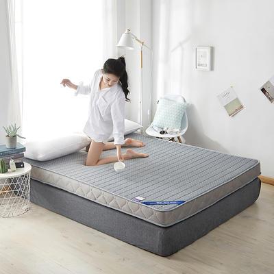 2020新款乳胶记忆慢回弹海绵床垫 0.9*2.0 立体-直线灰色(10公分)