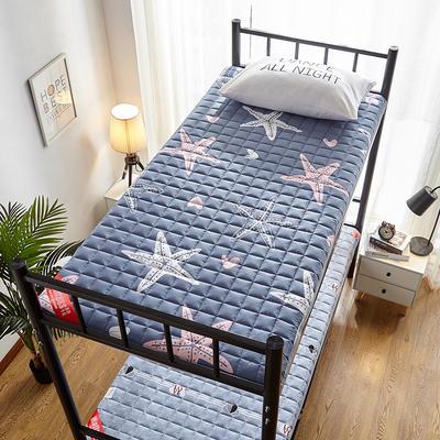 2020新款暖心舒适加厚学生款防滑床垫 0.9*2.0m 海星-灰