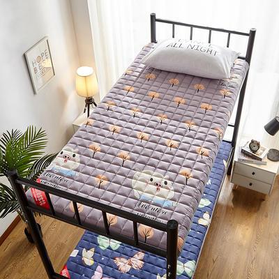 2020新款暖心舒适加厚学生款防滑床垫 0.9*2.0m 欢乐时光-紫