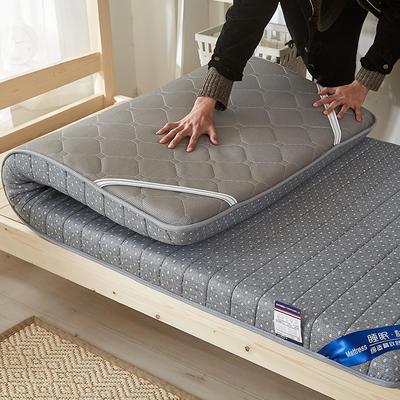 2019新款升级款乳胶记忆棉学生床垫 90*190 单边灰(6公分)