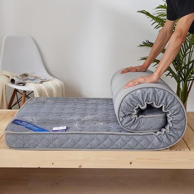 2019新款升级款乳胶记忆棉学生床垫 90*190 叶语浪漫-灰(10公分)