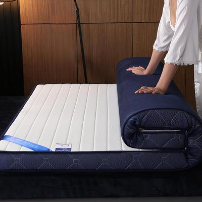 2019新款乳胶海绵床垫 0.9*1.9 直线白-立体(6公分)