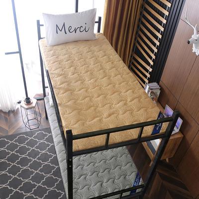 2019新款羊羔绒学生床垫 0.9*1.9 驼