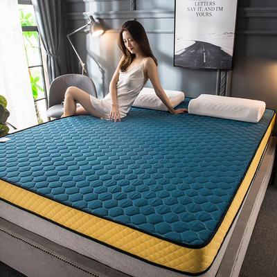 2020新款四季款乳胶记忆海绵立体床垫 0.9*2.0 孔雀蓝(5cm)