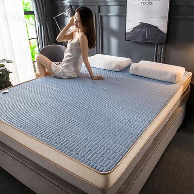2020新款四季款乳胶记忆海绵立体床垫 0.9*2.0 天蓝(5cm)