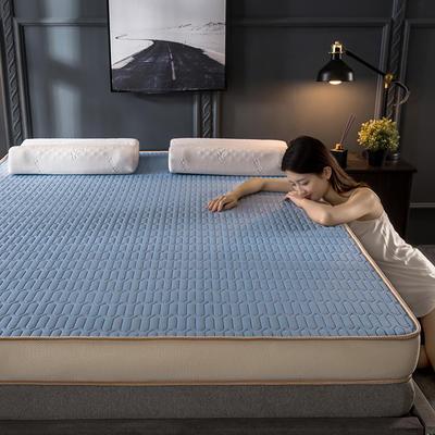 2020新款四季款乳胶记忆海绵立体床垫 0.9*2.0 天蓝(9cm)