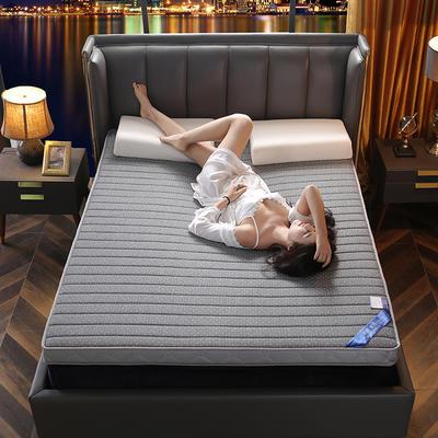 2021新款四季款乳胶记忆海绵立体床垫 0.9*1.9 直线灰(9cm)