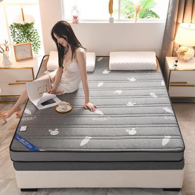 2021新款针织乳胶立体有氧棉床垫 0.9*2.0m 萝卜灰(6cm)