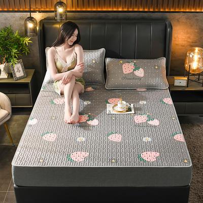 2021新款凉感丝乳胶凉席(印花系列) 1.2*2.0m凉席两件套 莓莓小姐