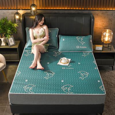2021新款凉感丝乳胶凉席(印花系列) 1.2*2.0m凉席两件套 小海豚