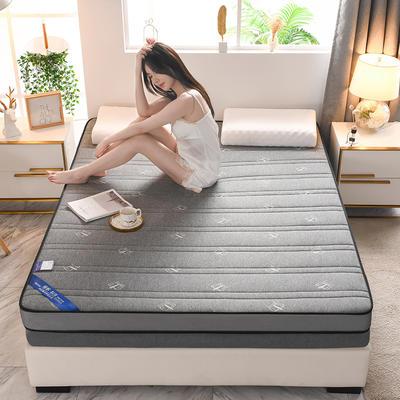 2021新款针织乳胶立体有氧棉床垫 0.9*1.9m 皇冠灰(10cm)