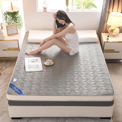 2021新款针织乳胶立体有氧棉床垫 0.9*1.9m 菱形灰(10cm)