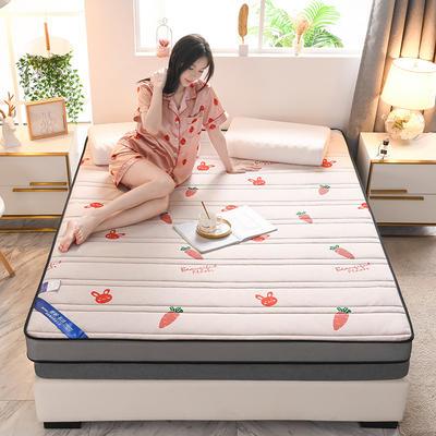 2021新款针织乳胶立体有氧棉床垫 0.9*1.9m 萝卜粉(10cm)