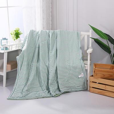 2019新款水洗棉夏被全棉空调被夏凉被 150x200cm 绿条