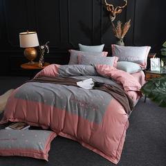 2019新款美肌棉刺绣系列 1.5m(5英尺)床 朵唯 灰