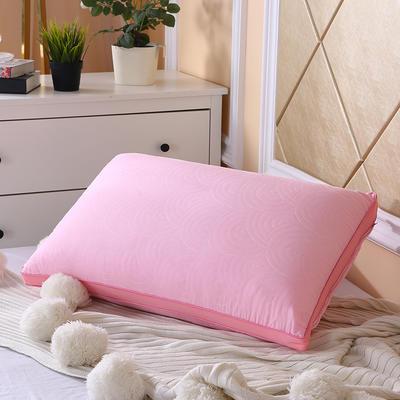 2019新款磨毛热熔枕48*74 粉色/个