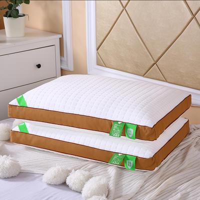 2019新款热熔枕48*74 立体咖色针织/个